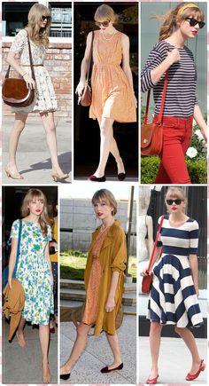 Love Taylor Swift's vintage style- i covet her wardrobe