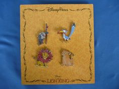 LION KING  Disney  Pin SET of 4   2014      New on Card #DisneyPinset4