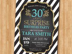 invitación de cumpleaños 30. Sorpresa de cumpleaños. por arthomer