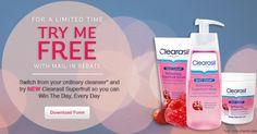 Rebate: Free Clearasil Superfruit Cleanser via heyitsfree.net
