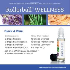 Black & Blue - For more information on using essential oils to improve your families health & wellness, sign up to our Essential Wellness Newsletter https://horizonholistics.uk/essential-wellness-newsletter/ Plus SAVE 25% by opening your own wholesale wellness account visit https://horizonholistics.uk/wellness-advocate-account/ for more information.