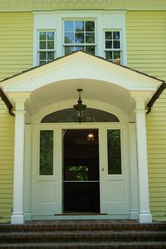 Exterior Portico Design Pictures Remodel Decor And Ideas Page 2 Bridget Vaughn Front Door Overhang