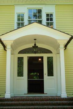 Front Door Overhang Ideas On Pinterest Traditional