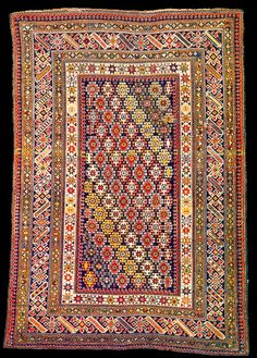 Antique Caucasian Kuba Syrt Chichi carpet, Azerbaijan. Published at Ian Bennett 'Oriental Rugs. Volume I: Caucasian Rugs'
