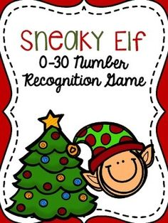FREE! Sneaky Elf Game {0-30 Number Recognition}