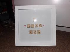 Scrabble art I LOVE YOU Simple