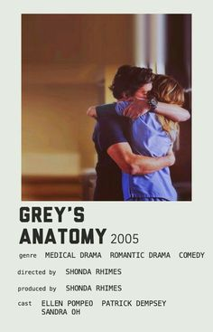 Greys Anatomy, Grey Anatomy Quotes, Iconic Movie Posters, Iconic Movies, Film Posters, Poster Wall, Poster Prints, Movie Prints, Grey's Anatomy Doctors