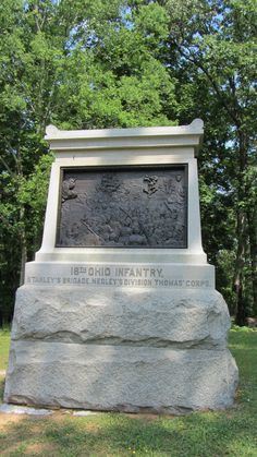18th Ohio Infantry, Chickamauga and Chattanooga National Military Park, Georgia and Tennessee