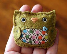 stuffed felt owl
