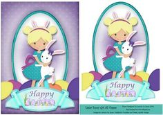 Easter Bunny Girl A5 Topper on Craftsuprint - View Now!