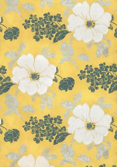 RUE DE SEINE EMBROIDERY Yellow AF7866 Collection Rue De Seine From Anna French