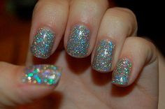 Sequin nails pinned with Pinvolve