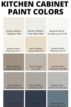 Popular Kitchen Cabinet Paint Colors – West Magnolia Charm Painting your kitchen cabinets is a budget friendly way to update your kitchen,. Use one of these popular kitchen cabinet paint colors to make them look amainzing Farmhouse Kitchen Cabinets, Modern Farmhouse Kitchens, How To Paint Kitchen Cabinets, Refurbished Kitchen Cabinets, Best Cabinet Paint, Building Kitchen Cabinets, Log Home Kitchens, Kitchen Counters, Country Farmhouse