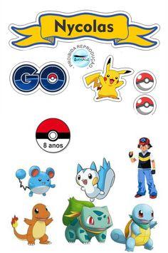 Pokemon Festa Pokemon Go, Pokemon Party, Pokemon Birthday, 3rd Birthday, Birthday Parties, Pikachu Cake, Cool Diy, Poke Mon, Scrap