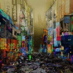 dead city Only signs... - #earthquake #seoul #korea #myungdong #city #dead #shopping #cat #destroyed #collage #illustration #architecture #architecturestudent #archillusion #drawing #artwork #architecturemodel #brand #ootd #travel #sign #pacade #digitalart #mood #neon