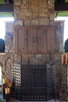 Outdoor TV Cabinet made out of Cedar Outdoors
