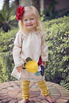 Girls Flower Peasant Dress12 Months to 10 Years