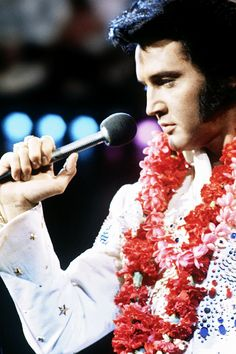 "Elvis Presley performing in his internationally televised live concert, ""Aloha From Hawaii"" on January 14th 1973."