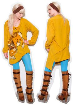 Oh hai, Foot Traffic Opaque Tights in turquoise! I love most yellow/blue combinations.