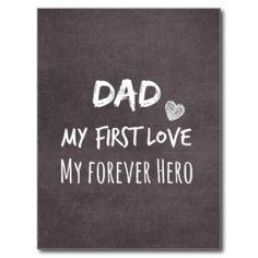 Citation de papa : Ma première passion, mon héros Carte Postale