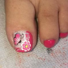 Colorful Nail Designs, Toe Nail Designs, Toe Nail Art, Toe Nails, Magic Nails, Blue Acrylic Nails, Pedicure, Crochet, Makeup