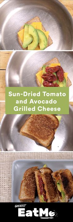 Avocado toast + melted cheese = this sandwich. #avocado #sundriedtomato #grilledcheese http://greatist.com/eat/grilled-cheese-sundried-tomato-avocado-recipe-video