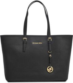 8d7a93393102a5 Michael Kors Jet Set Travel Tote in Black- this is my favourite bag because  it goes with everything and is very