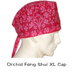 Scrub Surgical XL Caps Orchid Feng Shui 100% cotton made in the USA