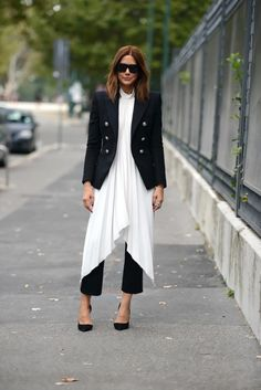 Christine Centenera, Balmain blazer and trousers, Ellery top, Céline shoes and sunglasses, Canturi ring.