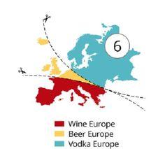Según la bebida preferida: vino, cerveza o vodka (Atlas of Prejudice).