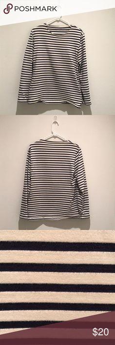 American Apparel Striped Sweatshirt - Size M American Apparel Cream and Black Long Sleeve Striped Sweatshirt - Size M American Apparel Tops Sweatshirts & Hoodies