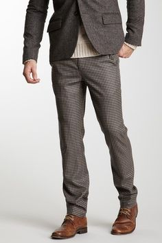 The Portland Collection by Pendleton Gingham Trouser in slate worsted check virgin wool