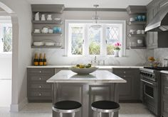 gray cabinets kitchen   Gray Kitchen Cabinets – For a Modern Kitchen   kitchenhoome.com