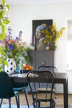 Dining Room Inspiration, Interior Inspiration, Home Office Design, House Design, Bohemian Interior, Beautiful Living Rooms, Modern Farmhouse, Room Decor, Instagram