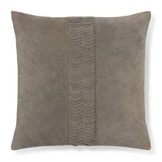 Suede Origami Cut Pillow Cover, Grey #williamssonoma