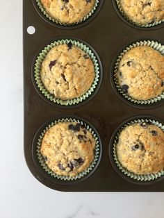 Blueberry, banana & oat muffins make for delicious, fruity, oaty nibble perfect for a breakfast on-the-go or healthy snack. Low Calorie Breakfast, Healthy Breakfast Recipes, Healthy Snacks, Banana Oat Muffins, Banana Oats, Breakfast On The Go, Frozen Blueberries, Healthy Dishes, Muffin Recipes