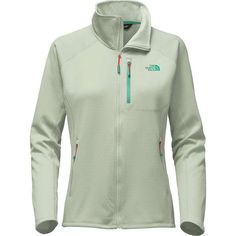 The North Face Women's FuseForm Progressor Fleece Full Zip Jack (£115) ❤ liked on Polyvore featuring ambrosia green fuse and the north face