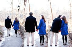 SOOO cute in Central Park! Perfect engagement site.  Katie and Rich in the pics are a super cute couple just themselves <3 high school sweetharts