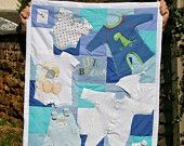 PERSONALIzED  Keepsake Quilt - Made to Order Using BABY CLOTHES