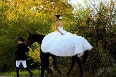 Ride your horse to your reception. | 29 Perfectly Adorable Ways To Include Your Pet In Your Wedding