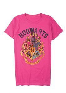 HARRY POTTER HOGWARTS SHIRT L M faux distressed nerd geek retro new NWT school