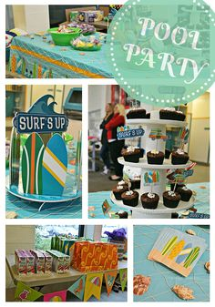 Surf's Up Pool Party | Birthday Party Idea | Indoor Winter Party