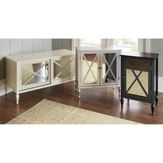 Beautiful Hollywood Mirrored Accent Cabinet