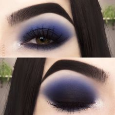 💙 Products used: Sugarpill Cosmetics eyeshadows in Diamond Eyes, Home Sweet H. - Make up - Makeup Eye Looks, Beautiful Eye Makeup, Eye Makeup Art, Dark Makeup, Smokey Eye Makeup, Skin Makeup, Eyeshadow Makeup, Eyeliner, Eyeshadow Guide