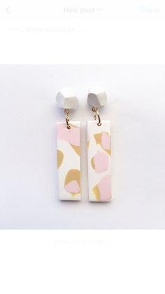 Pink & Mustard Leopard Spot Earrings