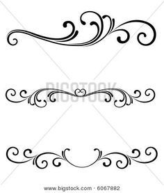 simple scrollwork for walls - Google Search