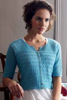 Patterns for cardigans and shawls - Rialto Lace by Debbie Bliss #amidsummerknitsdream#loveknittingcom