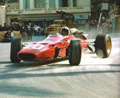 Chris Amon - Ferrari Ferrari 242 - Scuderia Ferrari SpA SEFAC - XXV Grand Prix Automobile de Monaco - 1967 World Championship for Drivers, round 2 Grand Prix, Ferrari F1, Amon, Formula 1, Hamilton, Classic Race Cars, Gilles Villeneuve, Race Engines, Vintage Race Car
