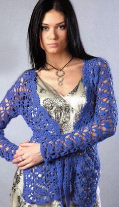 jaket-kruchkom-shema - crochet jacket scheme pattern