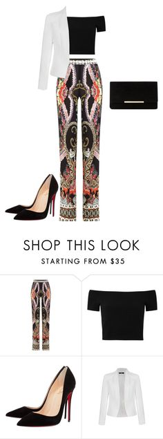 """Office Party"" by kmags4 ❤ liked on Polyvore featuring Etro, Alice + Olivia, Christian Louboutin, Ally Fashion and Dune"